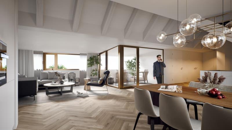 Am Brühlweg 11/13 in Muttenz - luxuriöse 4 1/2 Zimmer Dachwohnung - beste Lage