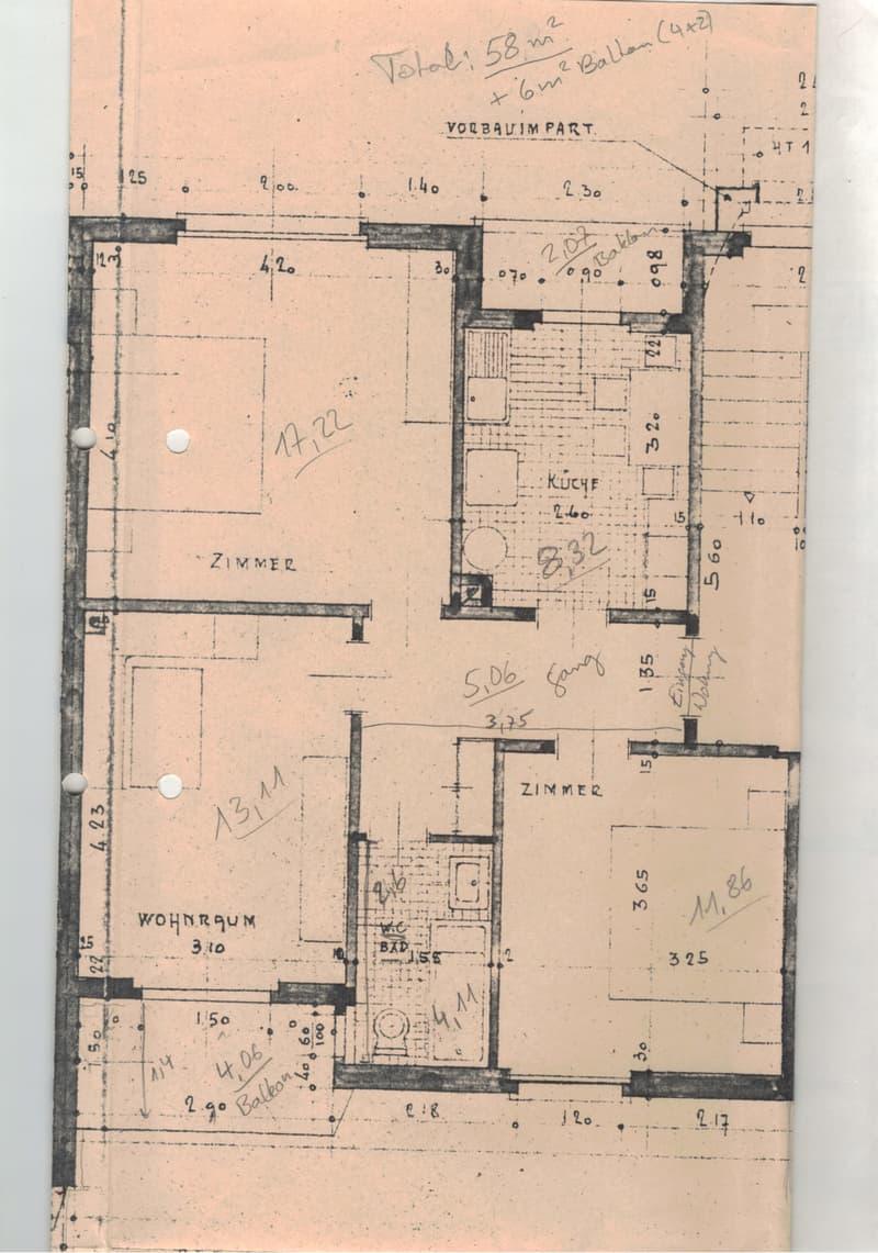 Ruhige 3-Zimmer-Wohnung, 2. Stock, schöne Aussicht (4)