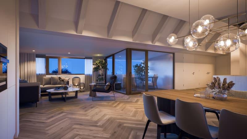 Wohnen wie im Einfamilienhaus - 3 1/2 Zimmer Dachwohnung am Brühlweg 11/13 (mit direktem Liftzugang)