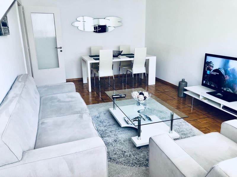 Appartement meublé avec 3 chambres à coucher- 105 m2 - Centre ville / proche de la gare