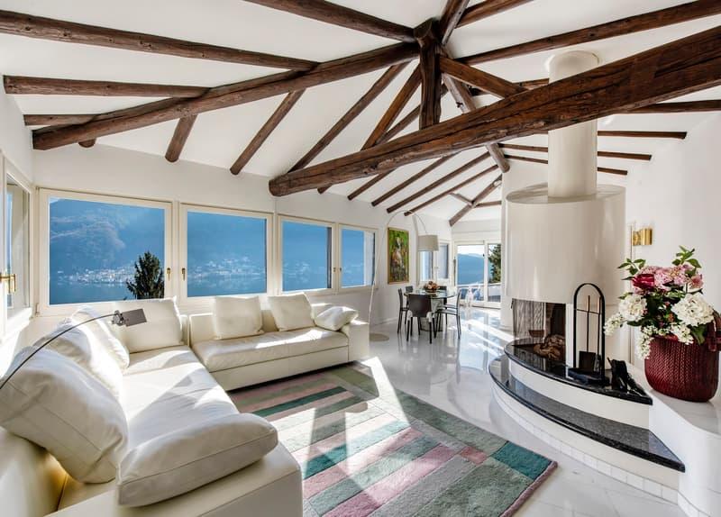 Villa in stile ticinese con vista spettacolare / Tessiner Villa mit tr