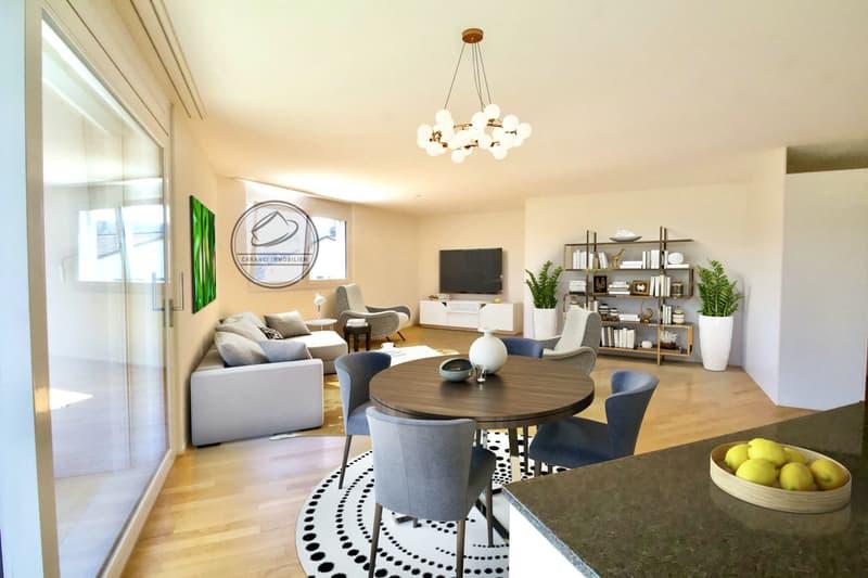 Moderne 4.5 Zimmer Wohnung für alle Generationen. Auch als Renditeobjekt geeignet.