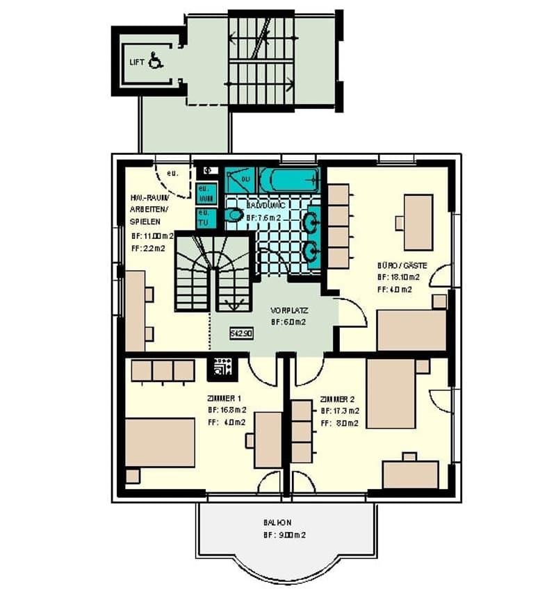 Modernes Wohnen in freistehendem 2-Familienhaus (2)