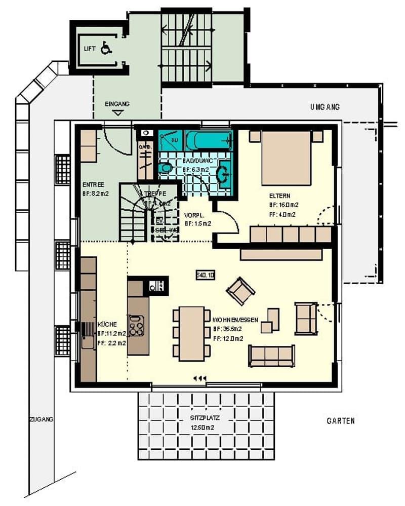 Modernes Wohnen in freistehendem 2-Familienhaus (3)
