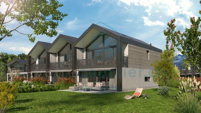 En construction, 15 spacieuses villas de 4.5 pces + disponible chauffé (1)