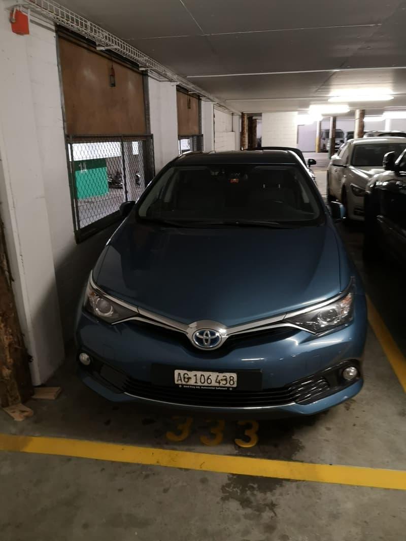 Tiefgaragen Parkplatz in Aarau zu vermieten