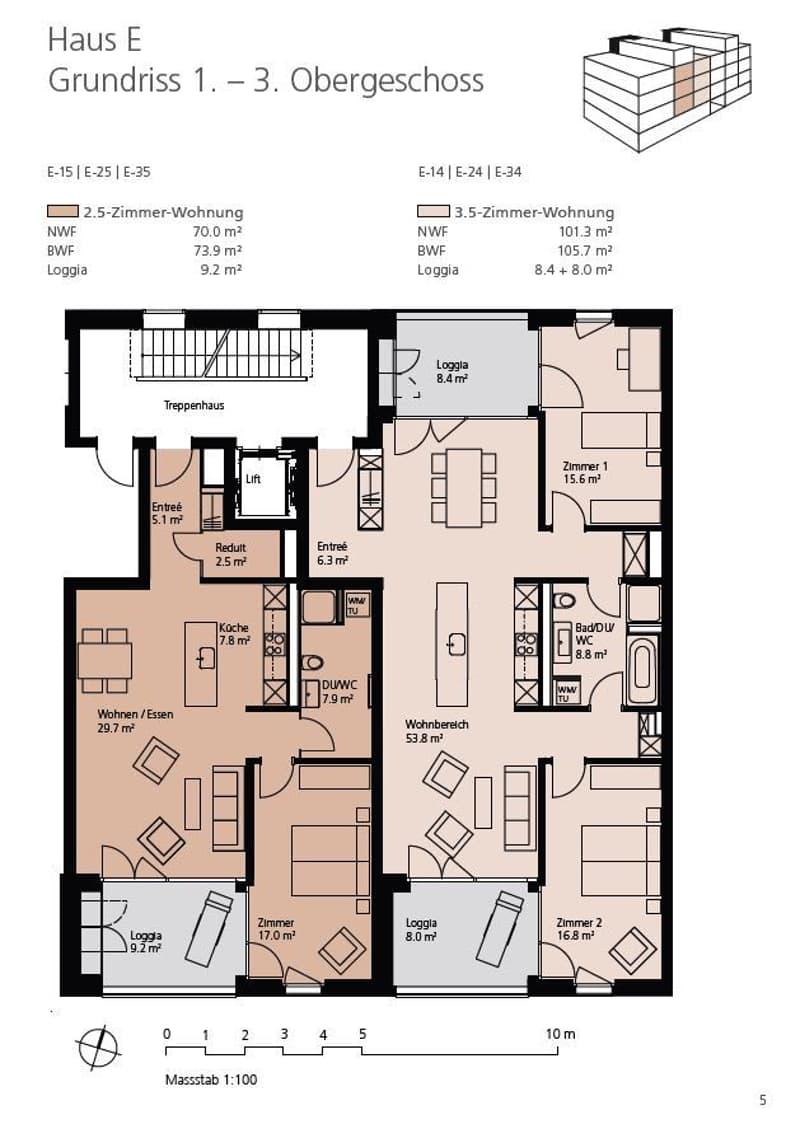 Grosszügige 3½-Zimmer-Mietwohnung