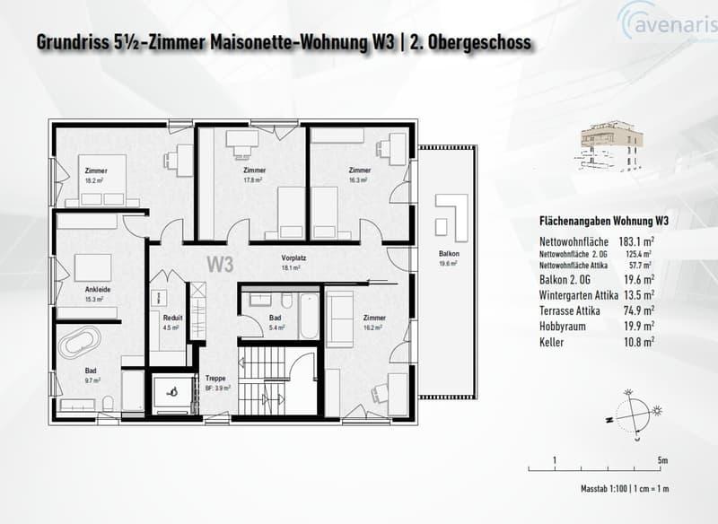 Atemberaubende Attika Maisonette-Wohnung im beliebten Oberwil (4)
