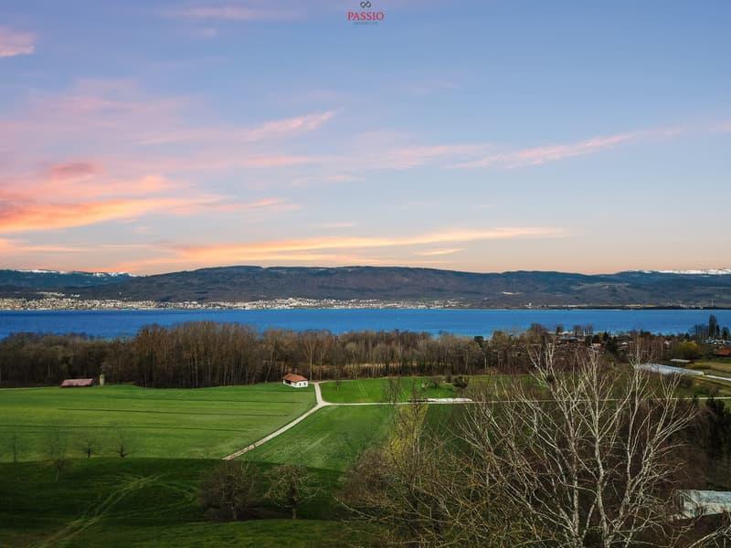 Bauland mit unverbaubarer Sicht auf den Neuenburgersee und den Jura