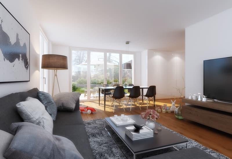 Wohn- und Essbereich Visualisierung
