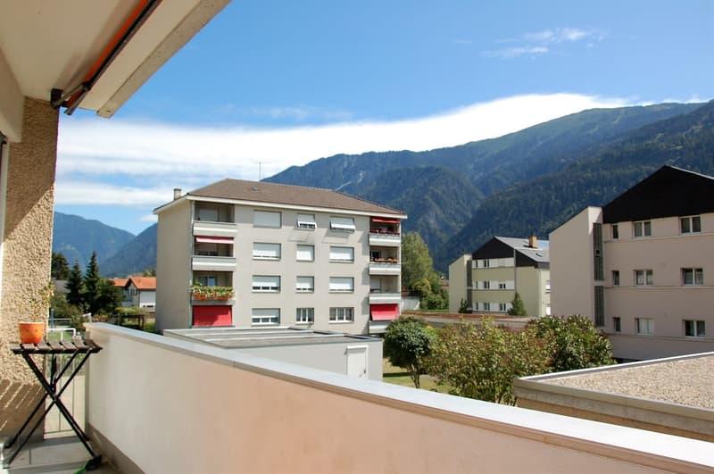 Balkon Süd / Aussicht auf den Dreibündenstein