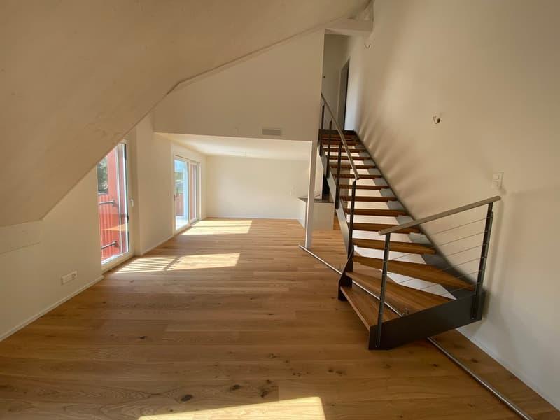 Wohn- und Esszimmer mit Wangentreppe (13.202)