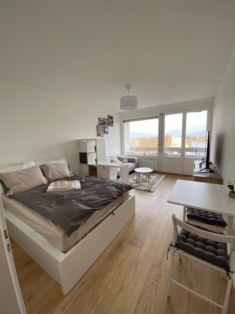 Studio tout neuf avec vue sur le Mont-Blanc au 9ème étage d'une résidence au calme au centre-ville ! (4)