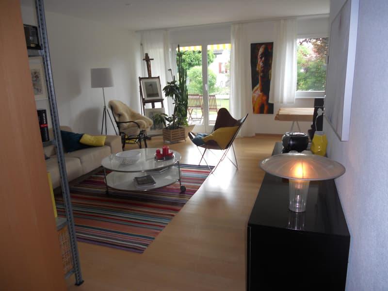 Moderne, helle, ruhige Gartenwohnung am Siedlungsrand (1)
