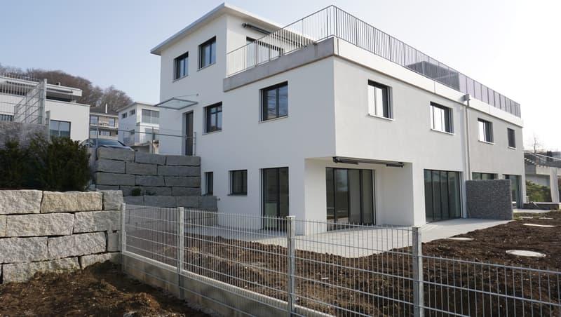 Attraktives Doppeleinfamilienhaus mit Fernsicht am Rebbergweg 4a, 5212 Hausen AG (1)
