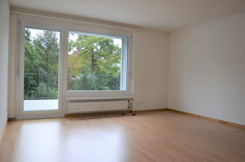 helle Zimmer mit neuem Parkettboden