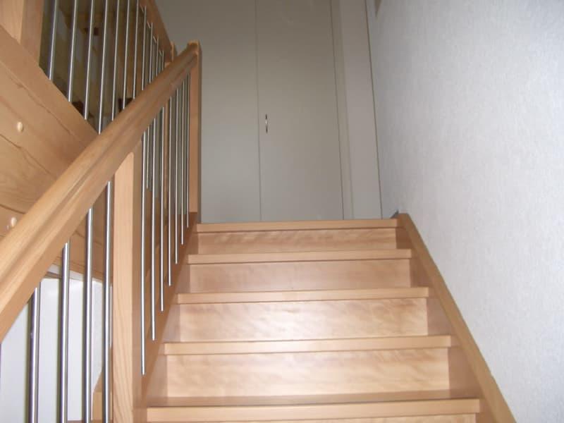 Aufstieg mit Treppe