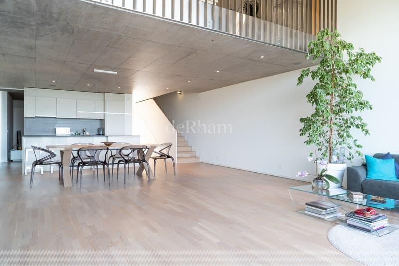 Duplex de 187 m2 PPE Vue panoramique sur le lac Léman (4)