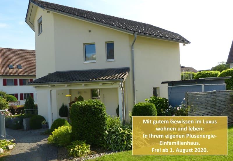 6,5 Zi. Plusenergie-Einfamilienhaus, in Luxus wohnen & leben mit gutem Gewissen, inkl. Tiefgarage (1)