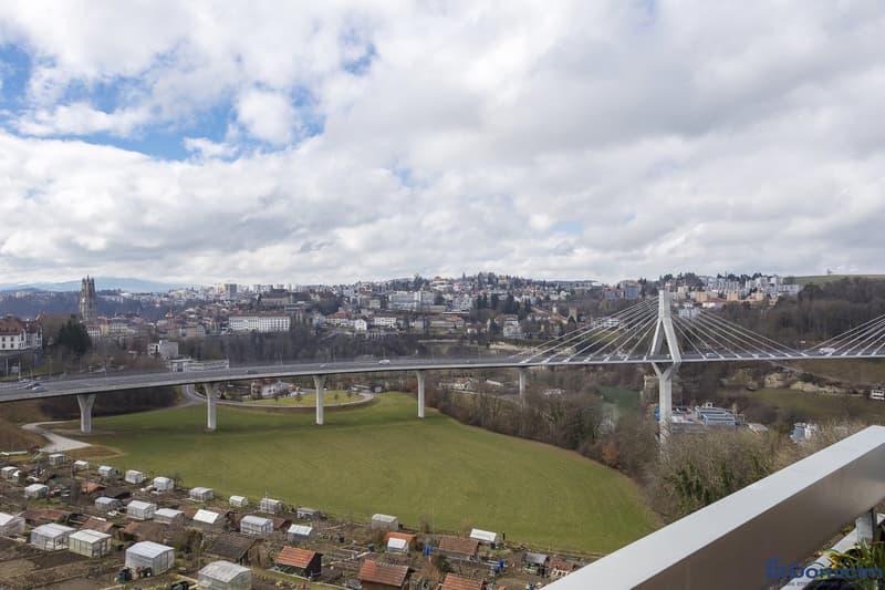 Fribourg : Spacieux 5,5 pces avec vue imprenable