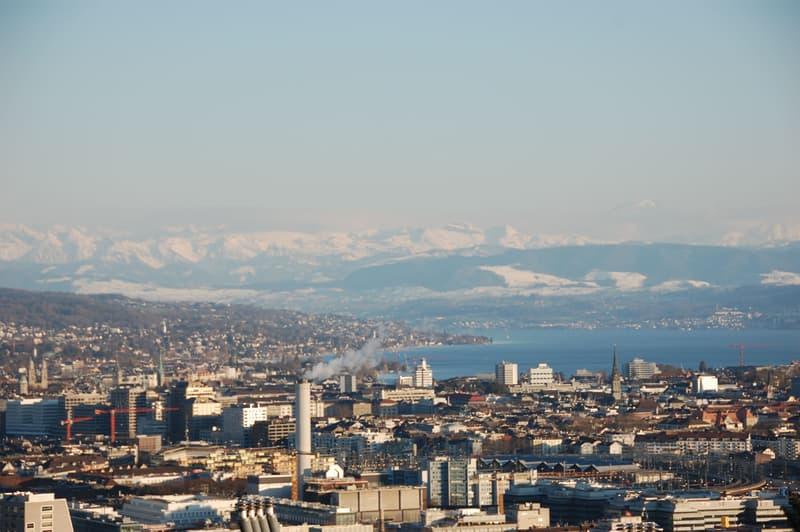 Terrassenwohnung mit Aussicht über Zürich, See und Alpen (1)