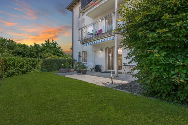 Schöne 3.5-Zimmer-Parterrewohnung mit Terrasse und privatem Garten