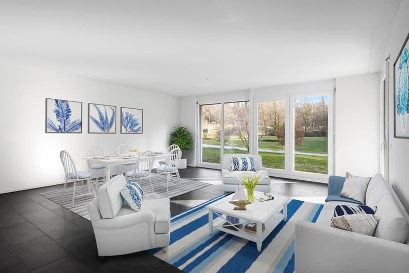 Attraktive Wohnung mit Gartensitzplatz