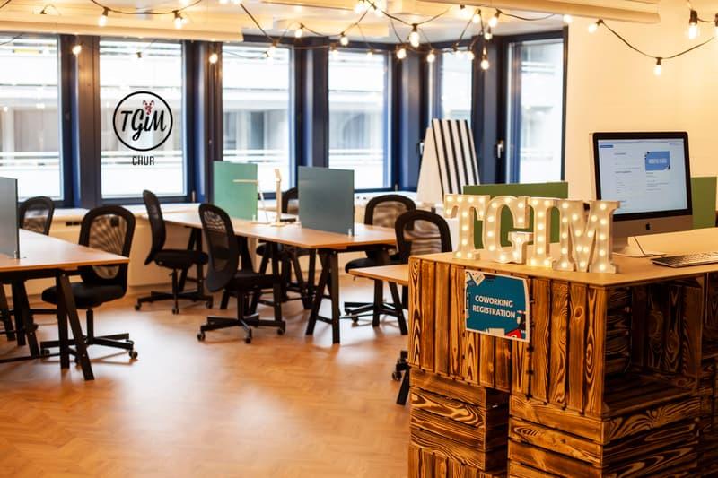 *flexoffice* Büroräumlichkeiten ab 26m2 + Coworking und Eventfläche im Paketpreis im Herzen von Chur