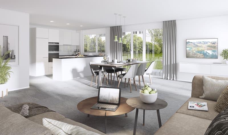 """NEUBAUPROJEKT """"Zelgli"""" 4.5-Zimmerwohnung mit 14.5 m2 Balkonfläche"""