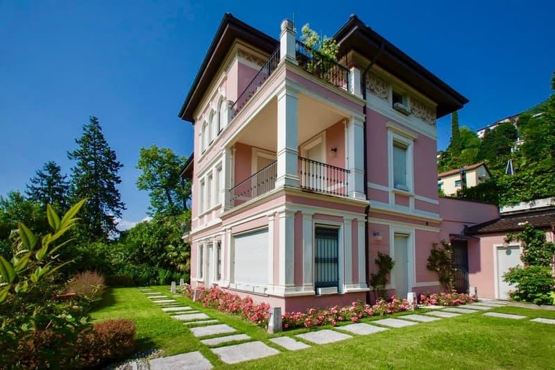 Stupenda villa d'epoca con giardino e vista lago di Lugano, Ruvigliana
