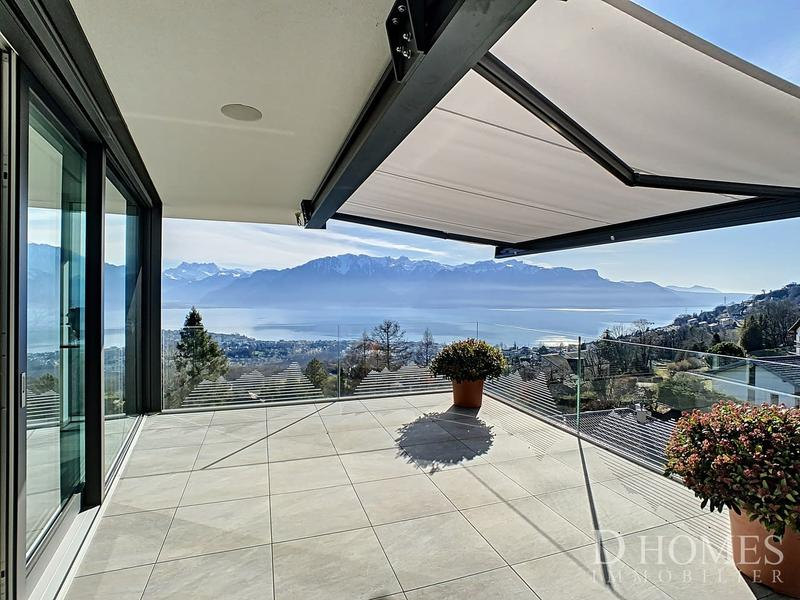 SUR LES HAUTEURS DE VEVEY - Villa d'architecte avec vue panoramique
