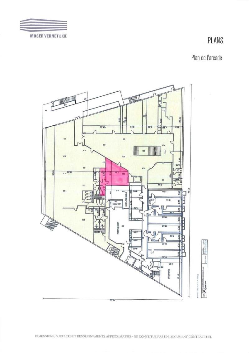 Plan de l'arcade