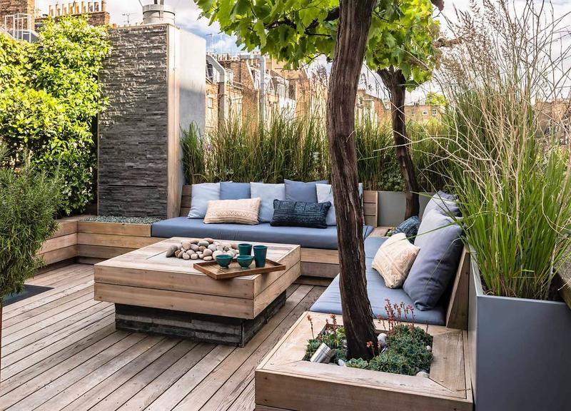 / Terrasse de 60 m2, exemple déco en option