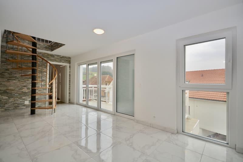 Appartement de 3.5 pièces, en duplex, avec balcon orienté sud-ouest