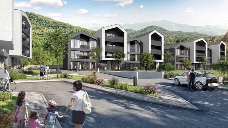"""Résidence """"TRIO"""" sise à proximité de Sion dans  le village de Bramois"""