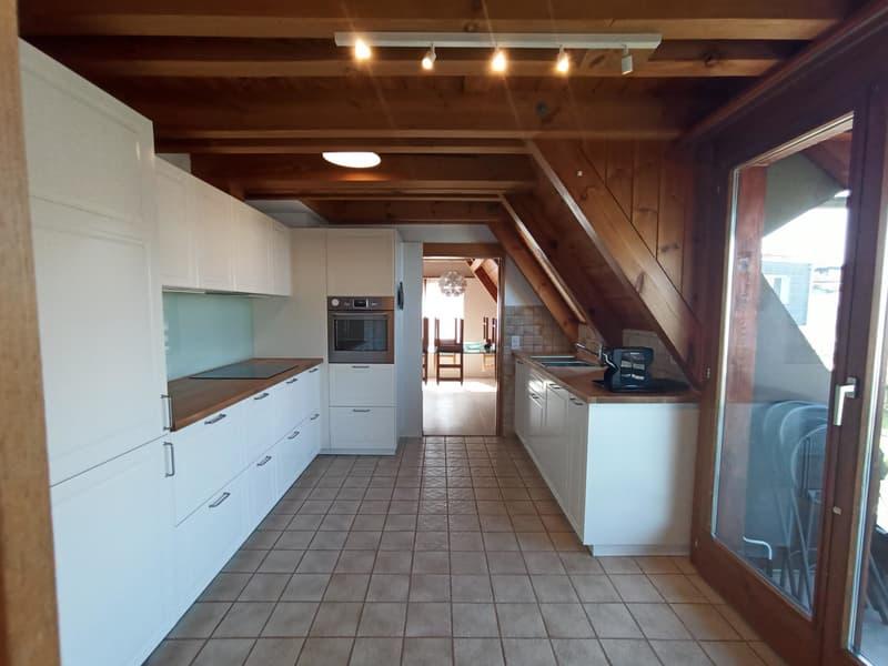 Neue Küche, 2020, im ersten Stock mit Balkon
