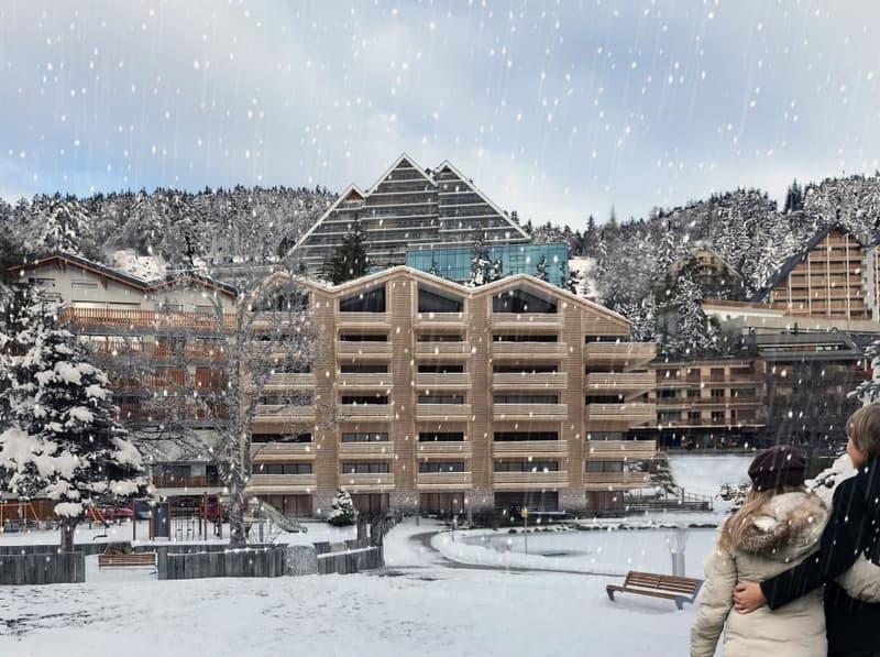 Superbe immeuble avec vue sur le lac au centre de Crans-Montana