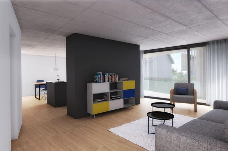 Neubauprojekt «Alte Schreinerei»: Grosszügige Familienwohnung mit Sitzplatz
