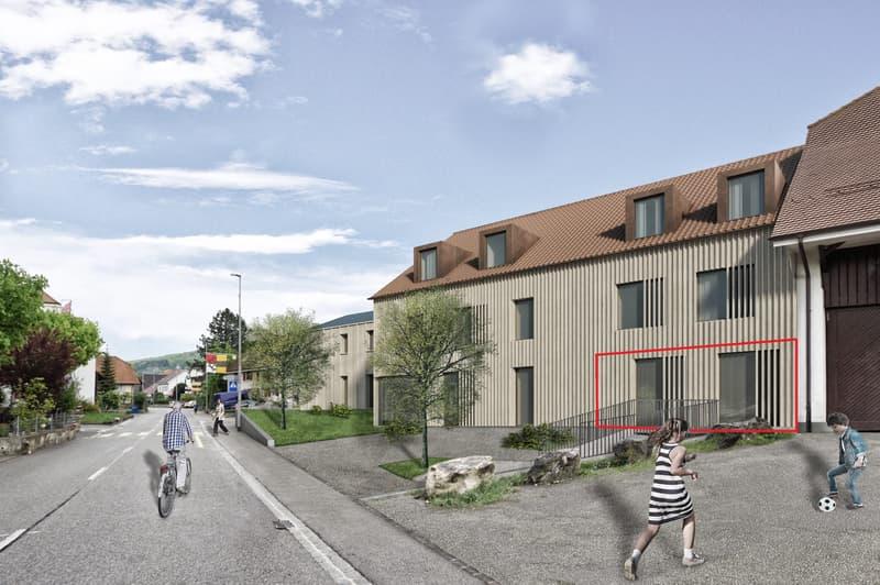 Neubauprojekt «Alte Schreinerei»: Erdgeschosswohnung mit sonnigem Sitzplatz