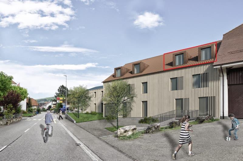 Neubauprojekt «Alte Schreinerei»: Sonnige Dachwohnung mit herrlicher Loggia