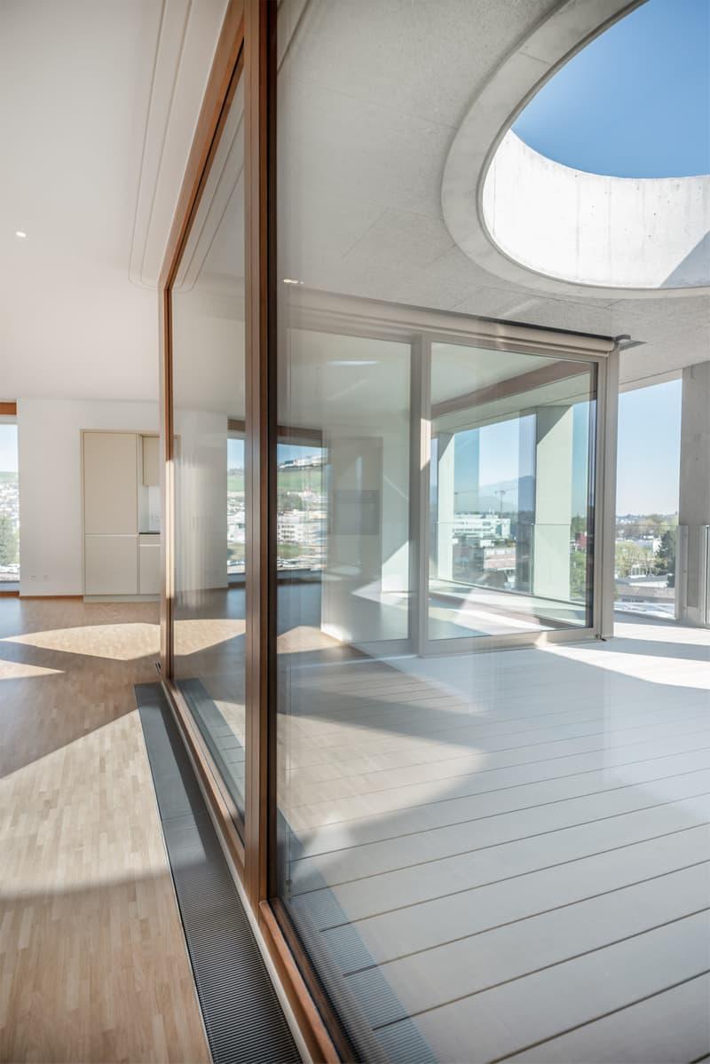 Luxuriöse Attikawohnung mit riesen Terrasse und Pilatusblick