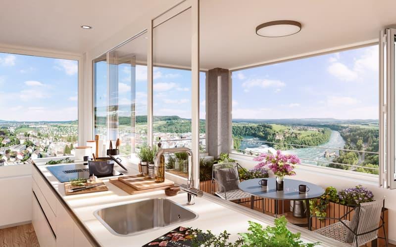 Einzigartige Wohnung im RhyfallTower mit spektakulärem Rheinfall-Blick