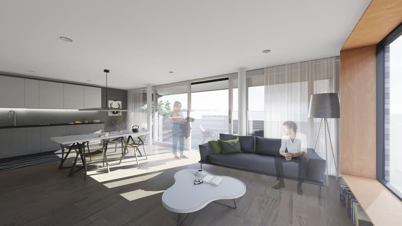 Vue intérieure - Espace cuisine-séjour
