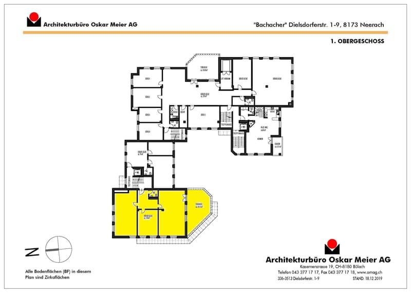 Grundrissplan Büro 3002