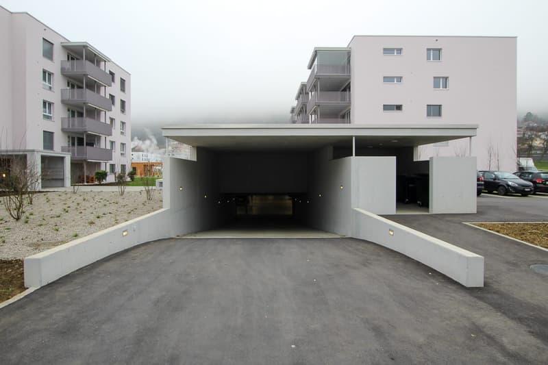 Einfahrt in EInstellhalle Sunnefeld Egerkingen