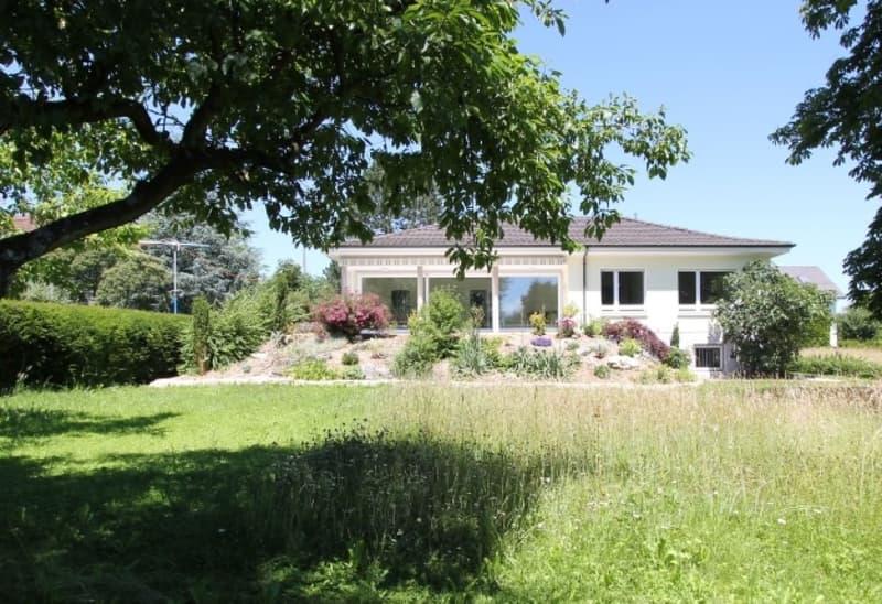 Rückfassade mit grosser Terrasse zum Garten hin