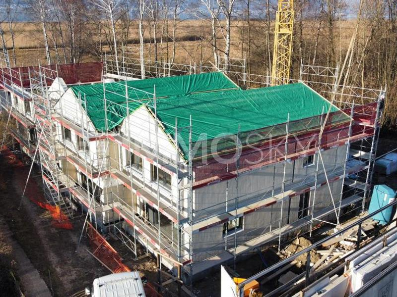 Villa en cours de construction au bord du lac