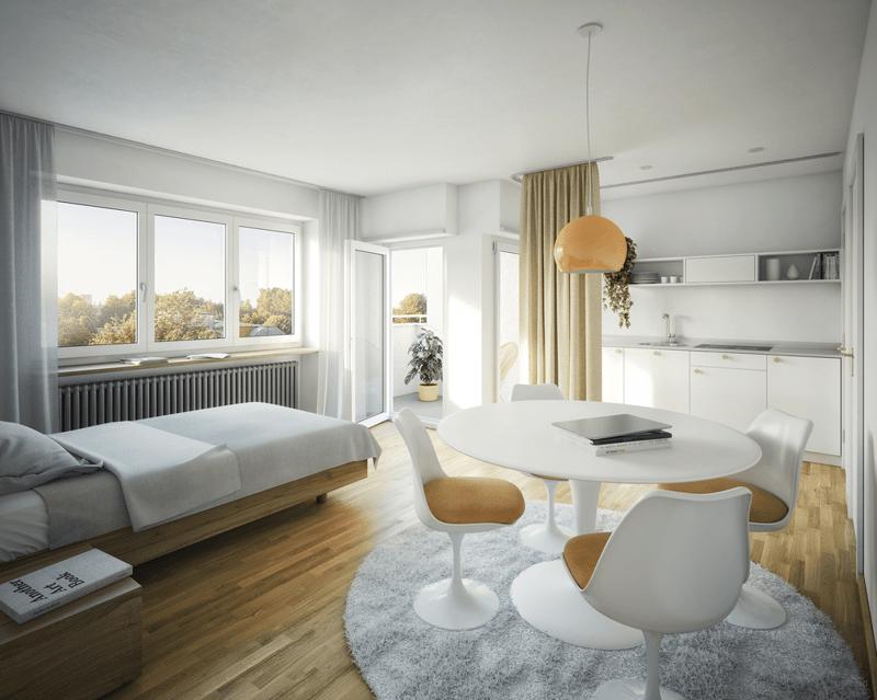 Visualisierung Regelgeschosswohnungen