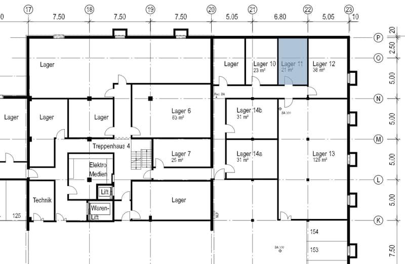 Lager 21 m²