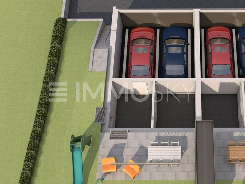 Plan 3D Sous-sol - villa C1 et C2
